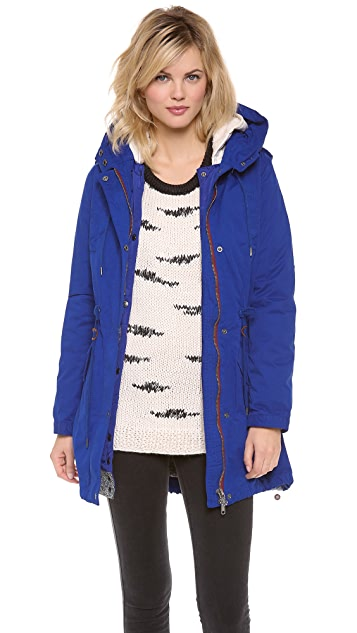 Scotch & Soda/Maison Scotch Parka with Removable Inner Layer