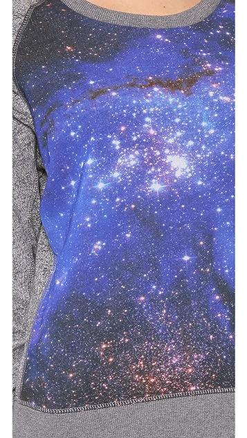 Scotch & Soda/Maison Scotch Long Sleeve Sweater with Galaxy Print