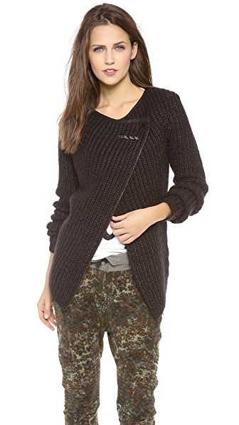 Maison Scotch Biker Wrap Cardigan