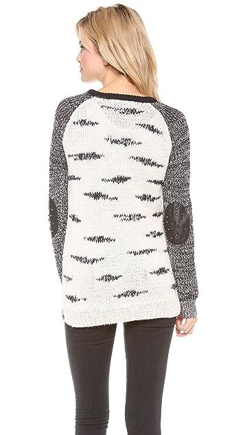 Scotch & Soda/Maison Scotch Black and White Zebra Knit Sweater