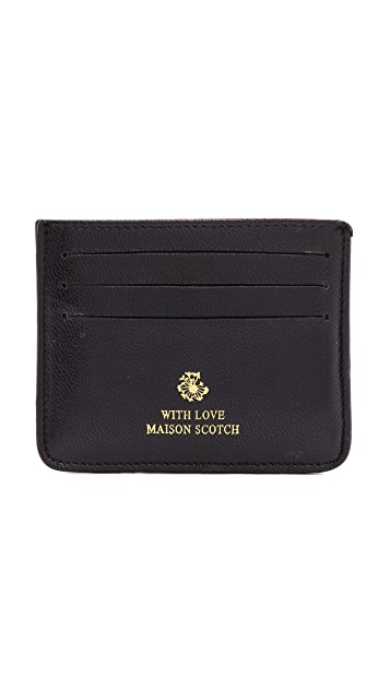 Scotch & Soda/Maison Scotch Leather Card Holder