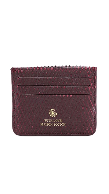 Scotch & Soda/Maison Scotch Leather Card Holder