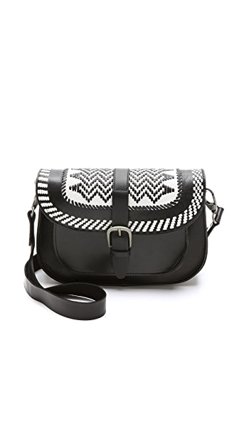 Maison Scotch Leather Cross Body Bag