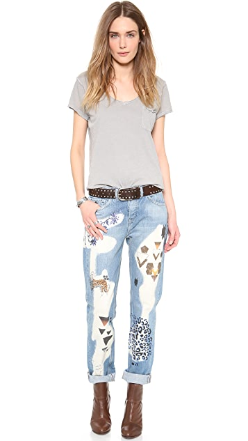 Scotch & Soda/Maison Scotch Animal Boyfriend Jeans