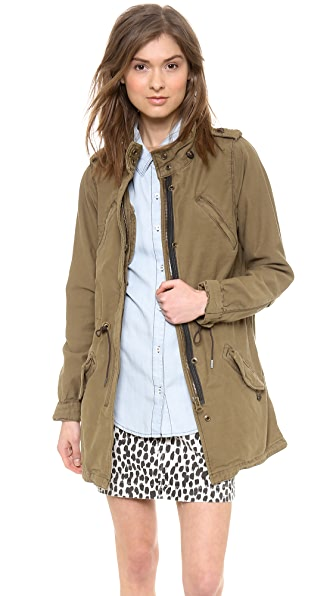 Maison Scotch Slubby Cotton Parka
