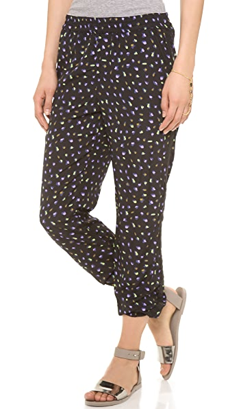 Maison Scotch Draped Print Pants