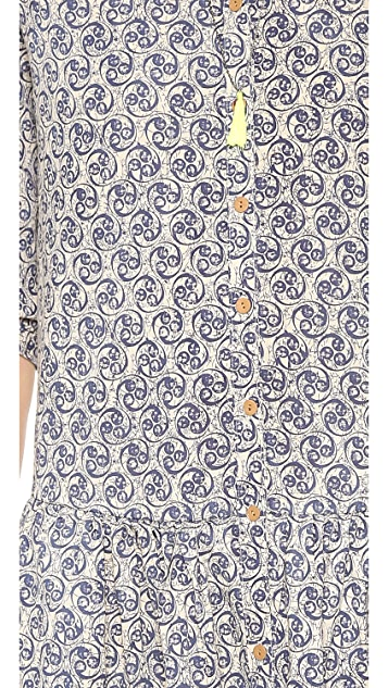 Scotch & Soda/Maison Scotch Cool Batik Block Printed Dress