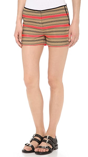 Scotch & Soda/Maison Scotch Striped Raffia Summer Shorts