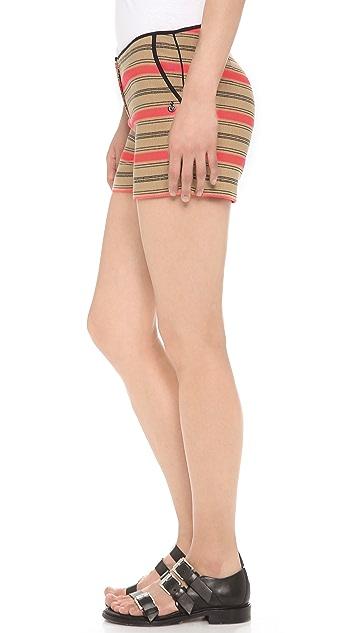 Scotch & Soda/Maison Scotch Striped Raffia Summer Shorts