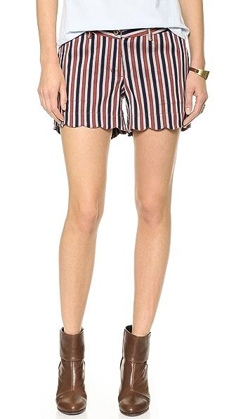 Maison Scotch Retro Striped Shorts