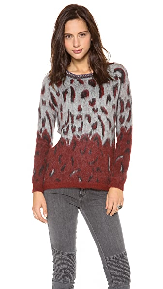 Scotch & Soda/Maison Scotch Fuzzy Animal Sweater