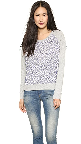 Scotch & Soda/Maison Scotch Embroidered Mesh Sweater