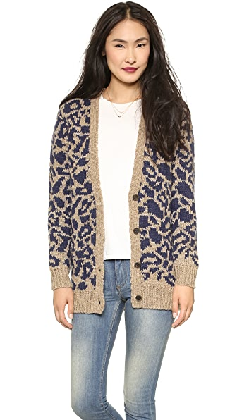 Maison Scotch Oversized Intarsia Cardigan