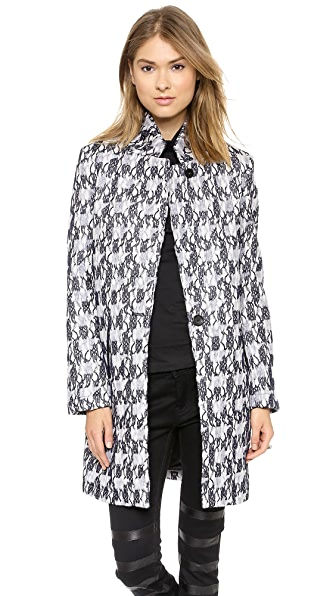 Scotch & Soda/Maison Scotch Multi Fabric Long Coat
