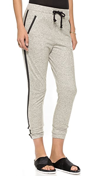 Scotch & Soda/Maison Scotch Jogger Pants with Faux Leather Trim