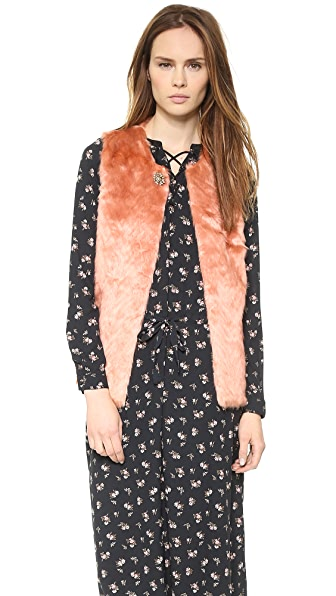 Scotch & Soda/Maison Scotch Faux Fur Vest