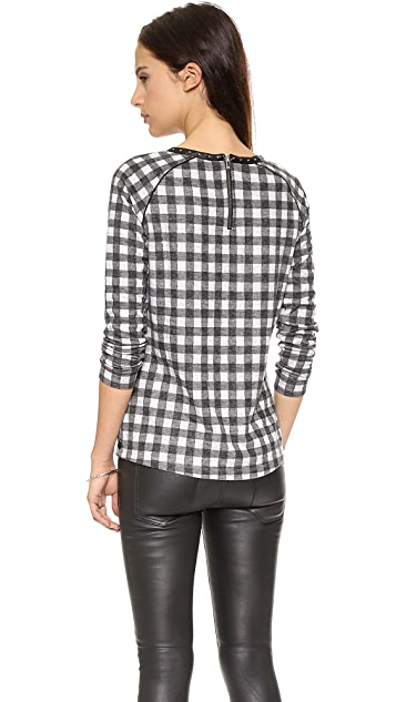 Scotch & Soda/Maison Scotch Plaid Long Sleeve Top