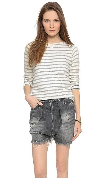 Scotch & Soda/Maison Scotch Basic Striped Sweatshirt