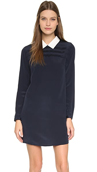 Scotch & Soda/Maison Scotch Collared Silk Mini Dress