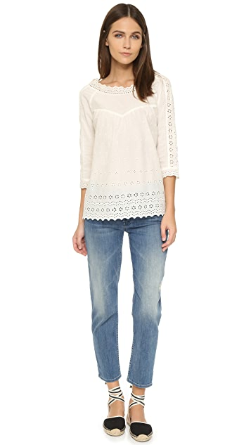 Scotch & Soda/Maison Scotch Vintage Lace Embroidered Blouse