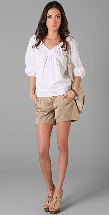 MM6 Tab Front Shorts