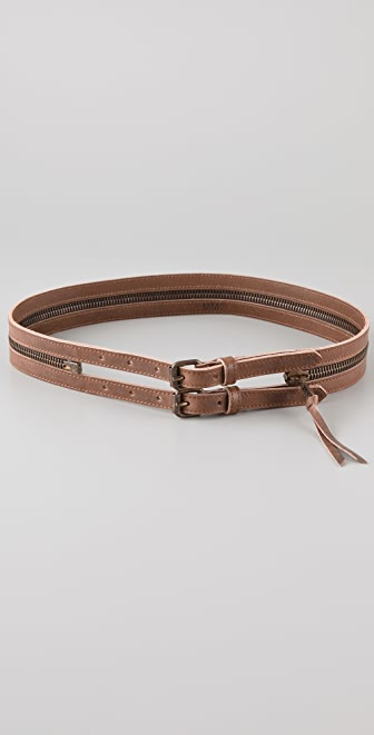 MM6 Double Zipper Belt