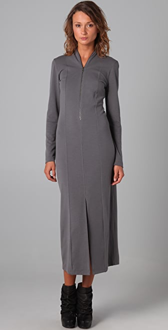 MM6 Long Sleeve Dress with Slit Details