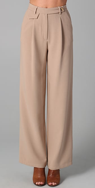 MM6 Wide Leg Trousers