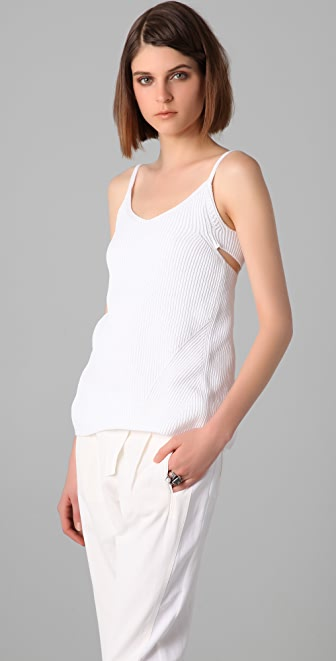 MM6 Knit Tank with Twist Back