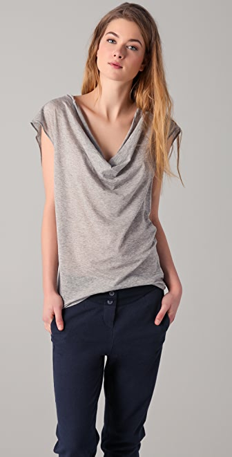 MM6 Scoop Neck Top w/ Back Tie Detail