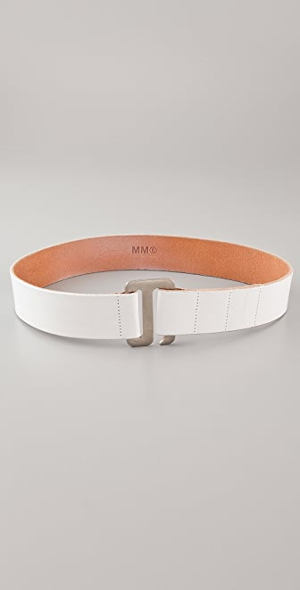 MM6 Vintage Leather Belt