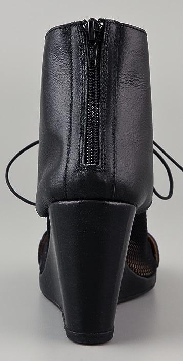 MM6 Netted Sock Wedge Booties