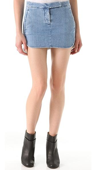 MM6 Stonewashed Denim Skirt