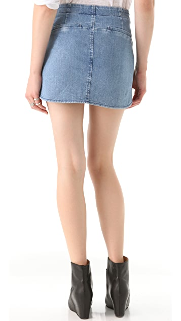 MM6 Stonewashed Denim Skirt