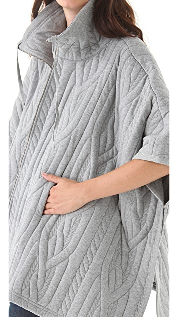MM6 Textured Knit Cape