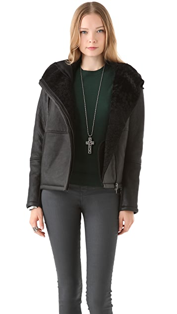 MM6 Shearling Jacket