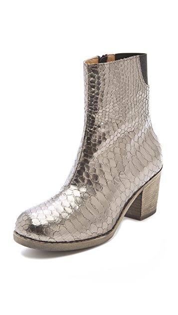 MM6 Metallic Booties in Python