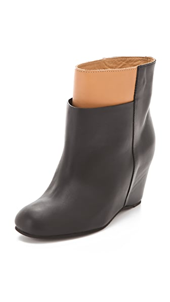 MM6 Overlasted Wedge Booties