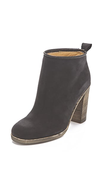MM6 Unzipped High Heel Boots