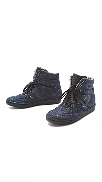 MM6 Lace Up Puffy Sneakers