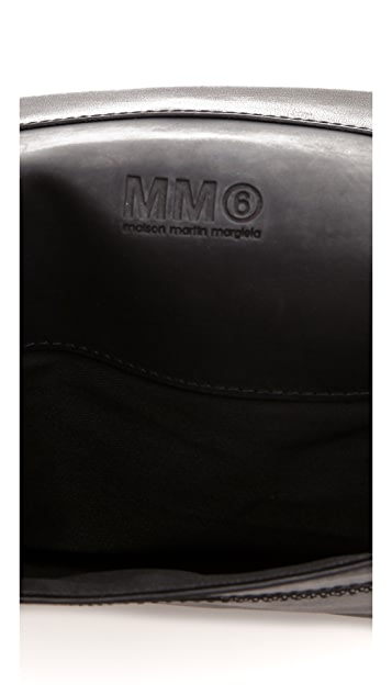 MM6 Leather Clutch