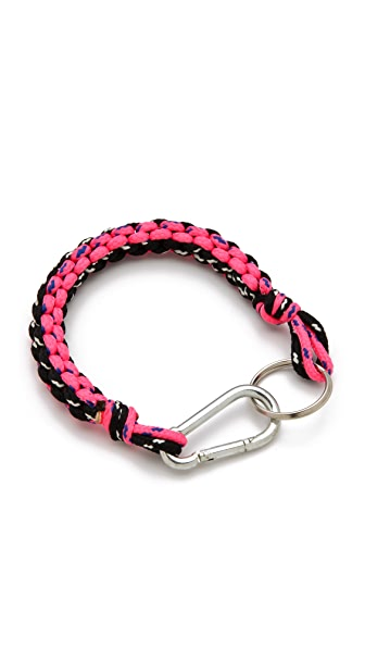 MM6 Braided Neon Keychain