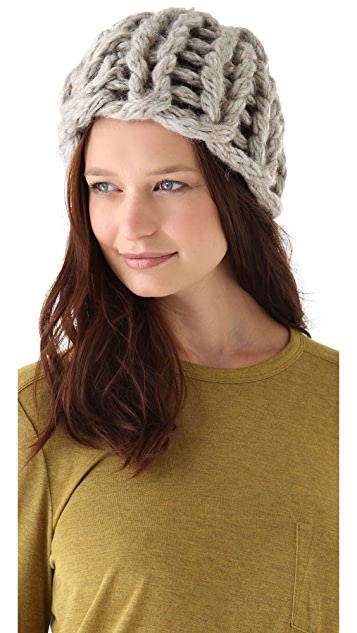 MM6 Knit Pom Pom Hat