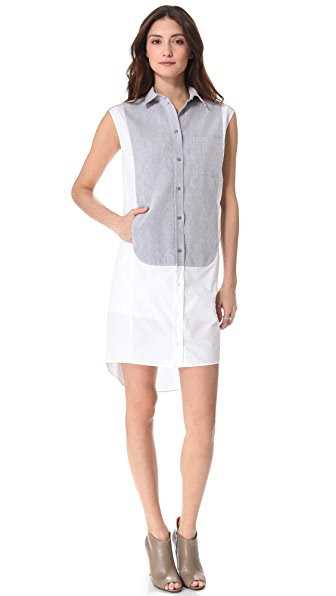 MM6 Paneled Sleeveless Tunic Dress