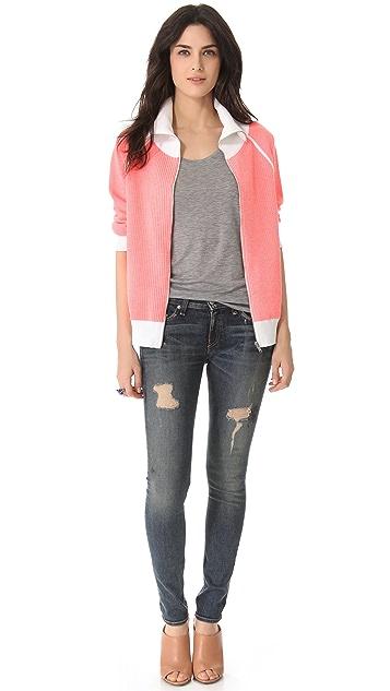 MM6 Reversible Zip Sweater