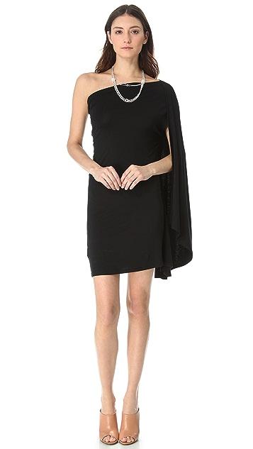 MM6 One Shoulder Drape Dress