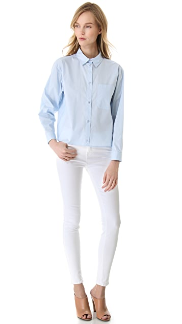 MM6 Cotton Button Down Shirt