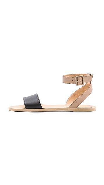 MM6 Contrast Band Flat Sandals