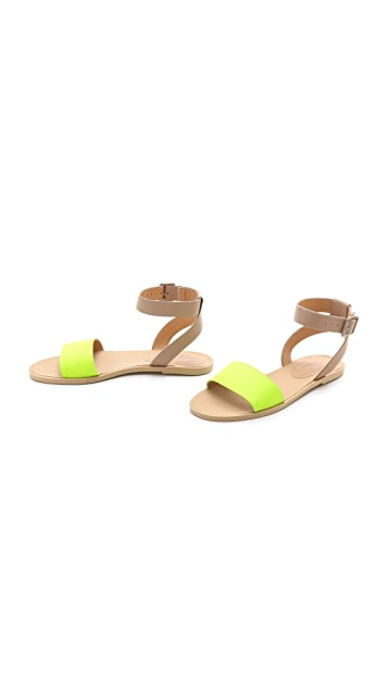 MM6 Contrast Band Flat Sandals
