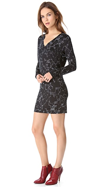MM6 Drape Back Dress